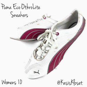 Puma Eco OrthoLite Sneakers Womens 10 Pink & White